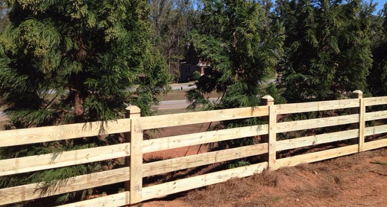 Akridge fence wood fencing farm horse