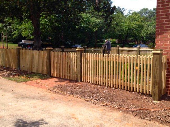 Wood yard fencing